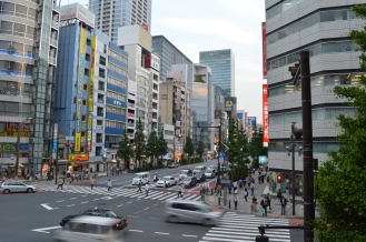 large wide open streets of Chuo Dori