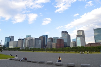 Turn 180 degrees and this is your sight - Skyline of Marunouchi.