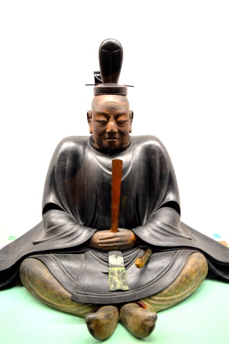 Statue of the legendary Tokugawa Ieyasu the Japanese warrior, statesman and founder of the last dynasty of shoguns.