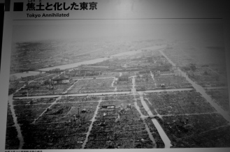 Tokyo post the infamous firebombing raids, conducted by the U.S in WW2.