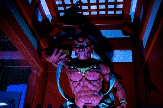 One of the fearsome Nio statues of Hozomon Gate.