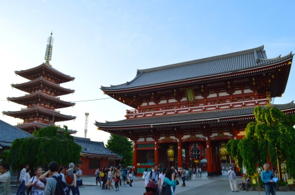 Hozomon Gate by day. Senso-Ji is a westerners dream. It's what you picture when you think of a Japanese Buddhist temple.