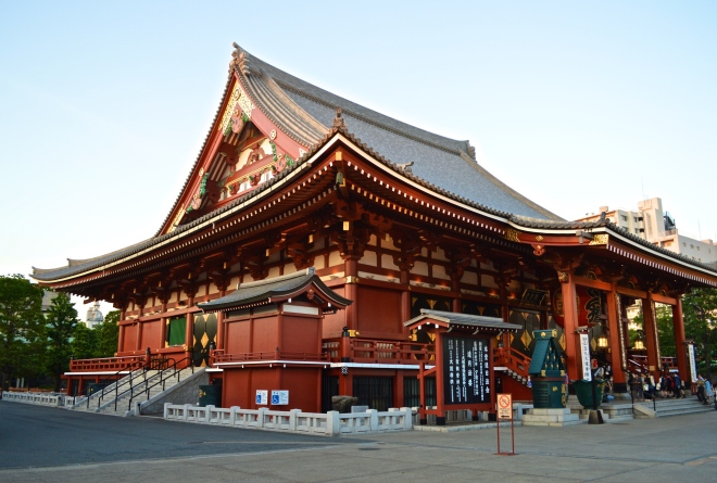 Kannondo Main Hall. The temple was actually flattened during the WW2 Tokyo bombing raids. However was rebuilt in 1958 with the funding of the people. It is now a symbol of peace where people come to pay their respects to those who lost their lives in the raids.