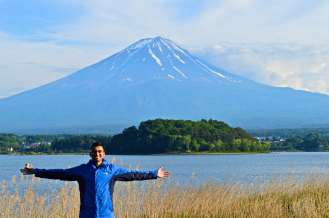 The first ascent of Fuji by a foreigner was in 1860 by Sir Rutherford Alcock, the first British diplomatic representative in Japan.